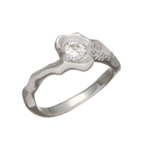 Electra Platinum .50pt Diamond Ring