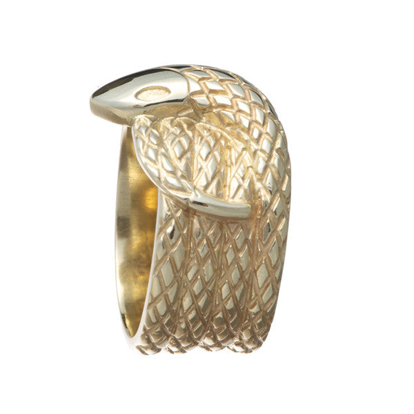 Hoye Division 9ct Yellow Gold Snake Ring