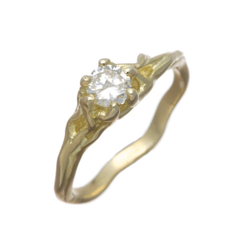 Enchanted 18ct Yellow Gold 0.30pt Diamond Solitaire Engagement Ring
