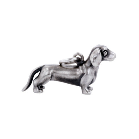 Silver Frank The Sausage Dog Charm