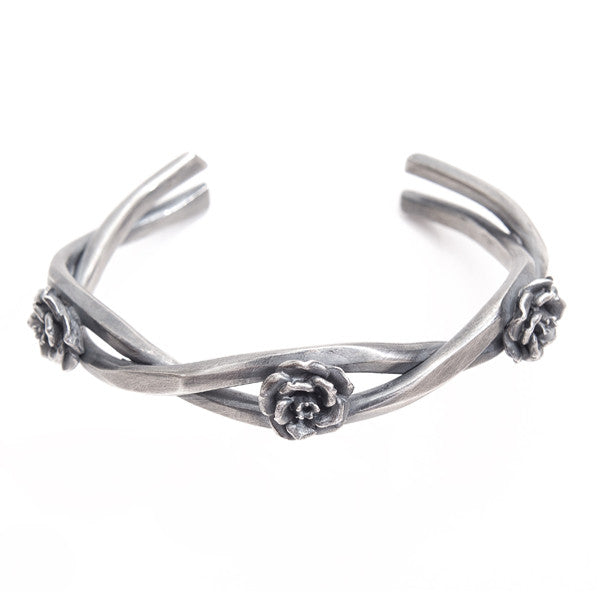 Rock 'n' Rose Silver Barbed Cuff