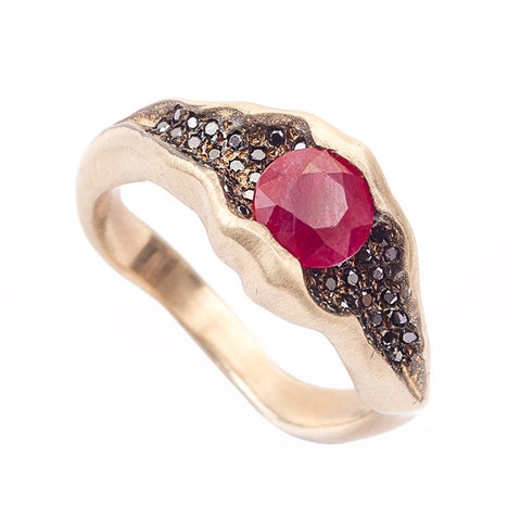 Electra 18ct Yellow Gold .60pt Ruby Ring