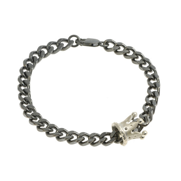 Kings & Queens Silver Crown Bracelet