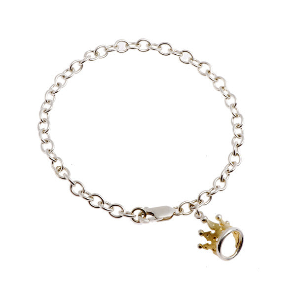 Kings & Queens Silver And Gold Plated Tiara Bracelet