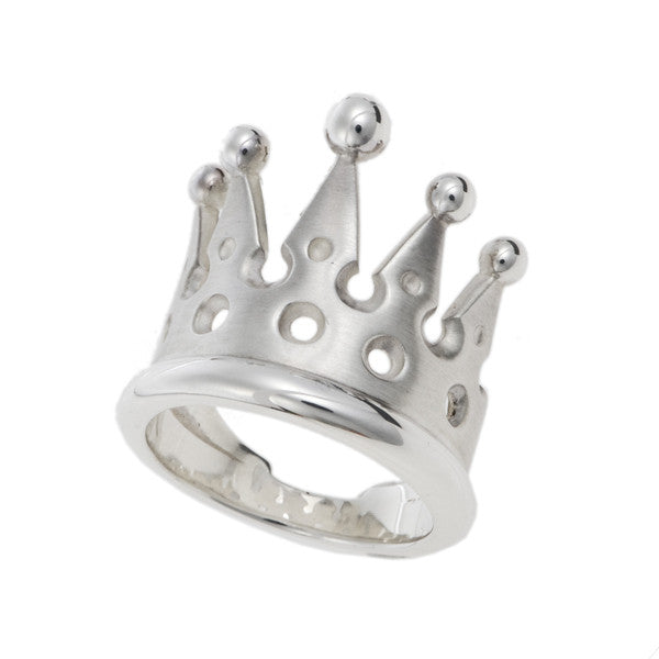 Kings & Queens Silver Crown Ring