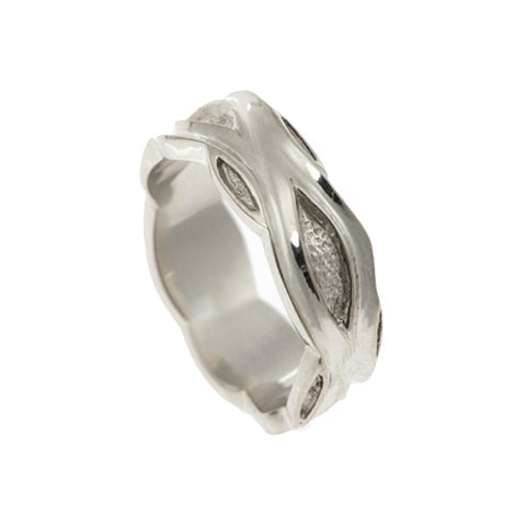 Libertine 9ct White Gold 9mm Band