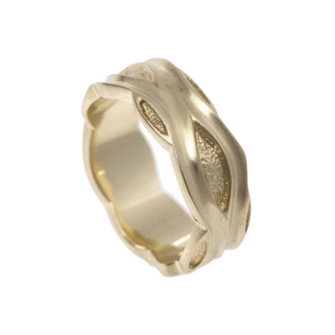 Libertine 9ct Yellow Gold 9mm Band