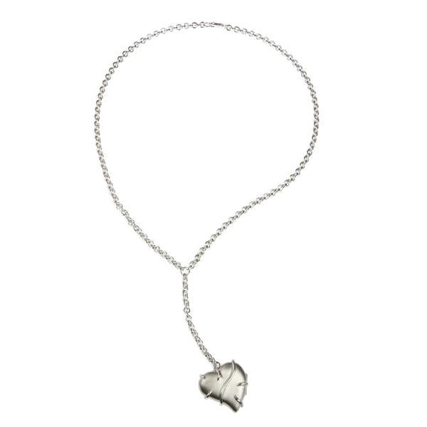 Entwine Silver Large Heart Locket Necklace
