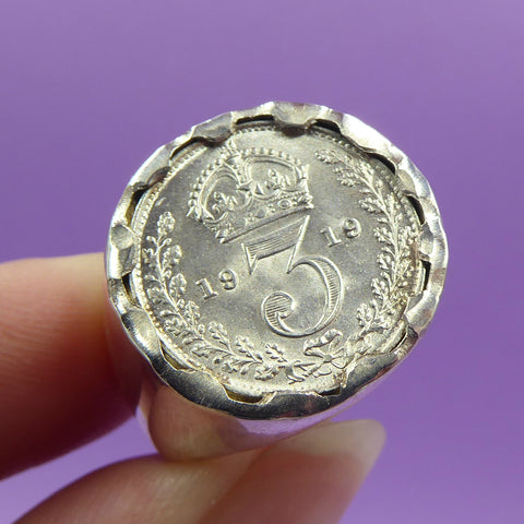 'Lucky 3' Limited Edition Silver Coin Ring
