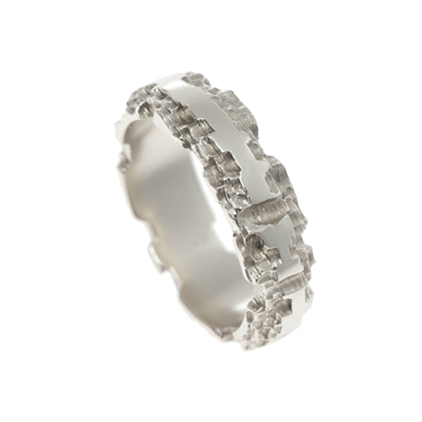Luna 9ct White Gold 6mm Band