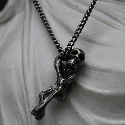 Silver 'Mr Skeleton' Necklace