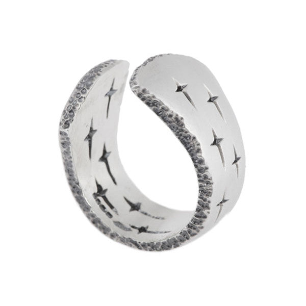 Trinity Silver Wide Open Ring