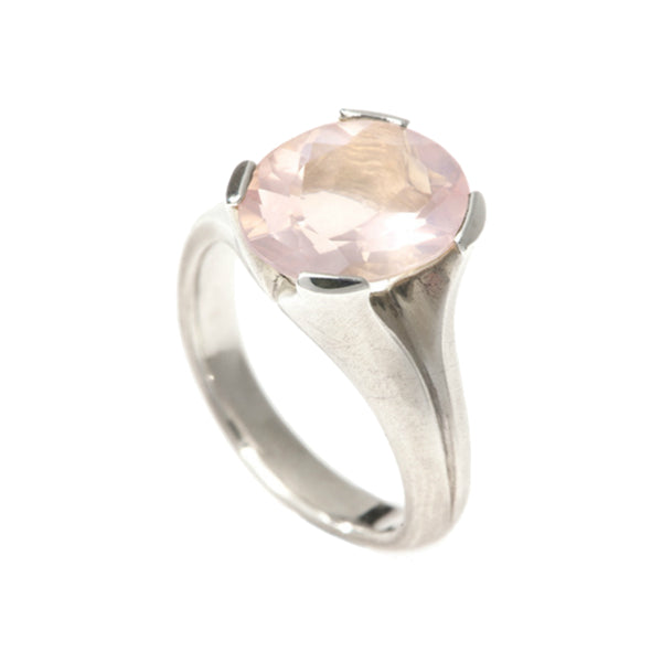 Kaleidoscope Silver Ring With Rose Quartz
