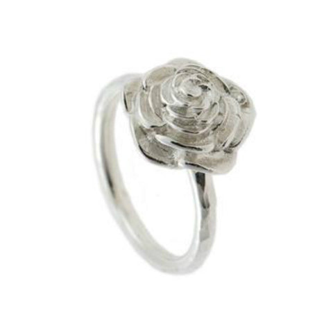 Naturist Silver Rose Ring