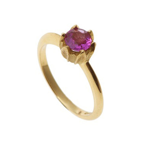 Collette 18ct Yellow Gold 0.50pt Pink Sapphire Ring
