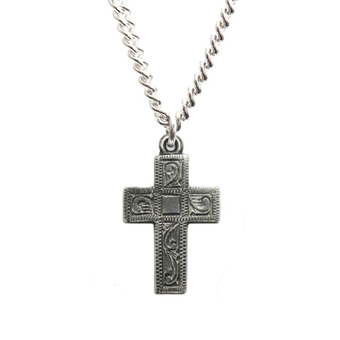 Small Silver Prophet Cross