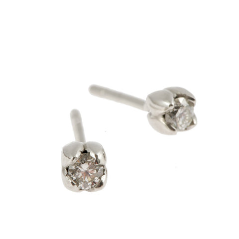 Tulip 18ct White Gold .30pt Diamond Earrings