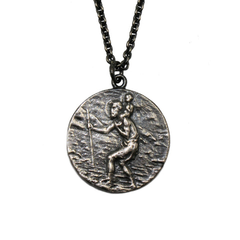 Silver St. Christopher Necklace