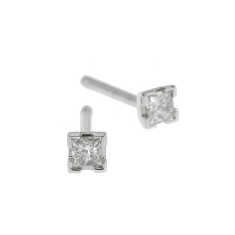 Castle Platinum .30pt Diamond Studs