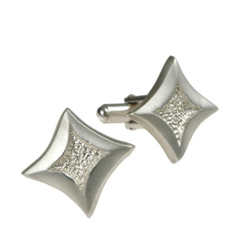 Trinity Silver Diamond Shaped Cufflinks
