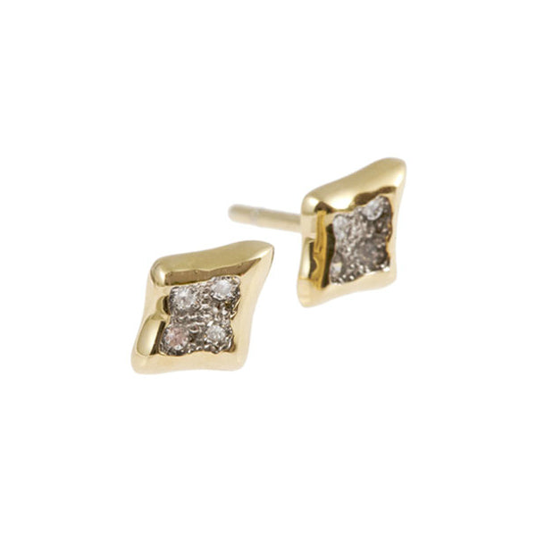 Triffid 18ct Gold Diamond Ear Studs