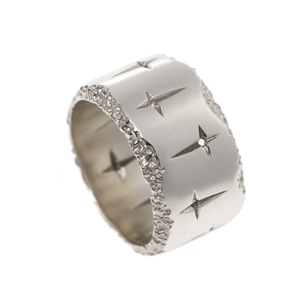 Trinity 9ct White Gold 13mm Ring