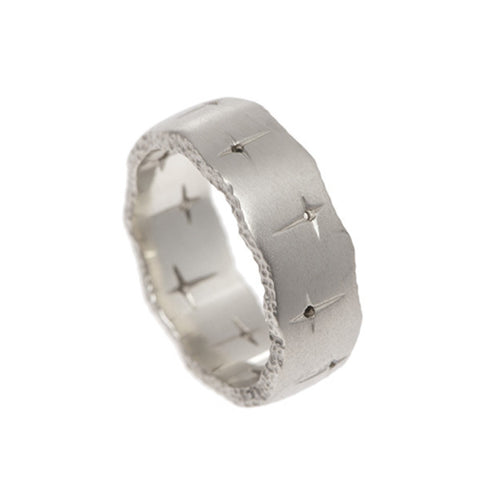 Trinity 9ct White Gold Wedding Eternity Ring
