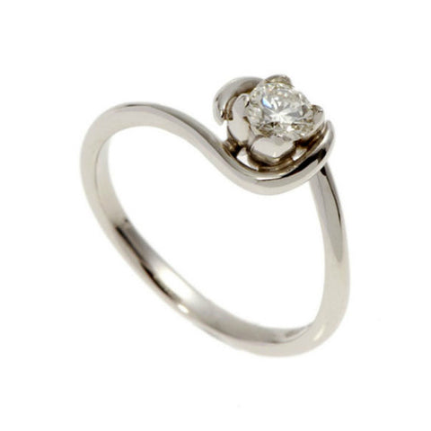 Tulip Platinum Solitaire with .25pt Diamond