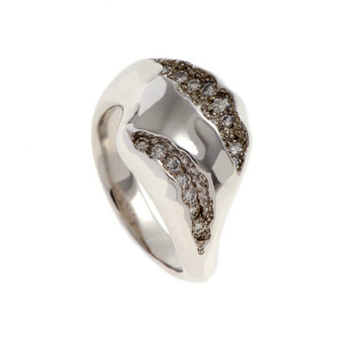 Triffid Platinum VR2 Heavy Two Section Diamond Ring