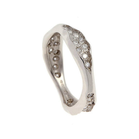 Triffid Platinum VR5 Triple Section Diamond Ring