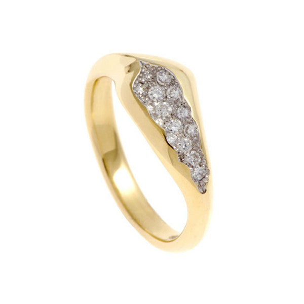 Triffid 18ct Gold VR6 Off-Centre Diamond Ring
