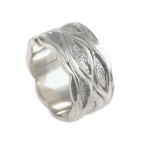 Libertine Silver Wide Ring