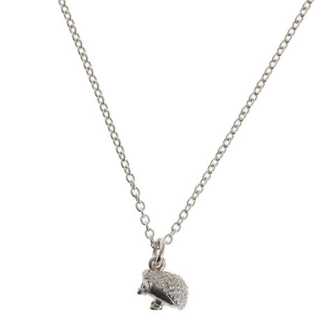 Woodland Creatures Silver Hedgehog Charm Necklace