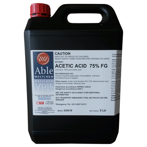 Acetic Acid - 75% FG / Weed Killer