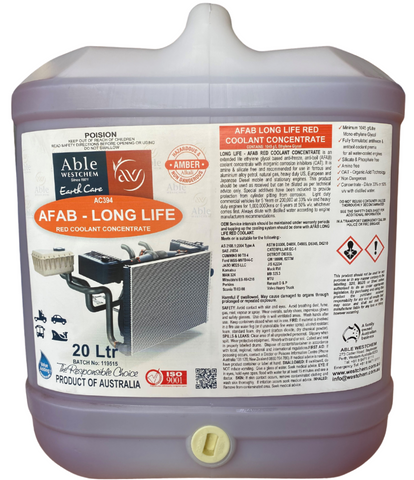 AFAB Long Life Red Coolant
