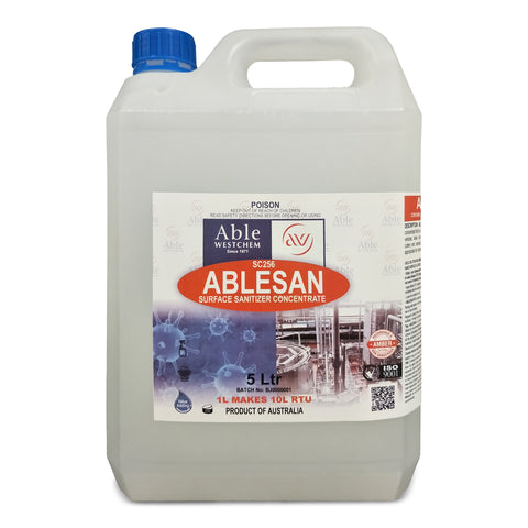 Ablesan Surface Sanitiser - Kills 99.99% Germs & Bugs @ 10% Dilution