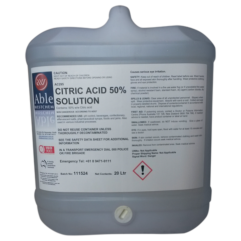 Citric Acid 50%
