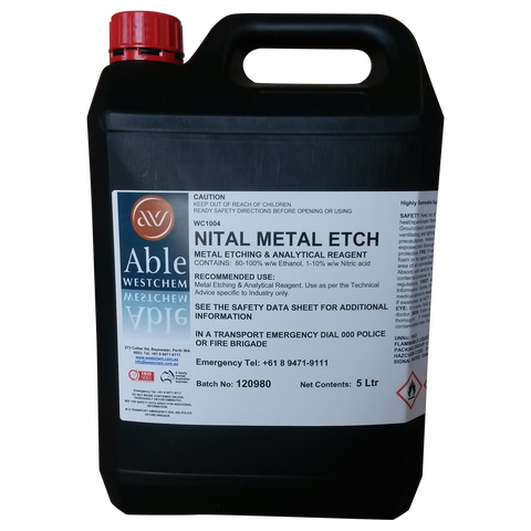 Nital Metal Etcher Solution
