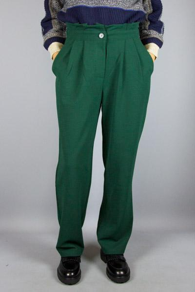 COMPANIA FANTASTICA, COMPANIA FANTASTICA TESSA PANT GREEN, PANTS WOMAN, Way Side Shop