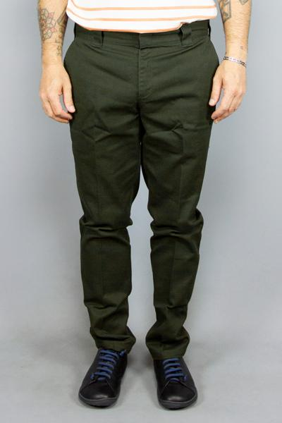 DICKIES, Dickies Slim Fit Work Pant Olive, PANTS & JEANS MAN, Way Side Shop