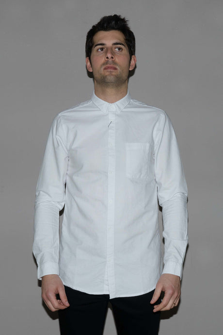 DR DENIM, MICK REGULAR SHIRT WHITE, SHIRT MAN, Way Side Shop