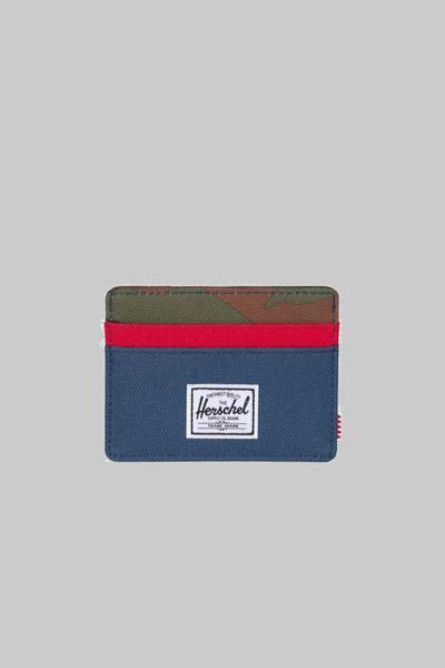 HERSCHEL, Herschel Charlie RFID Navy/Red/Woodland Camo, WALLET, Way Side Shop