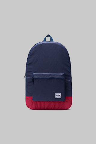 HERSCHEL, Herschel Packable Daypack Navy/Red, BACKPACK, Way Side Shop