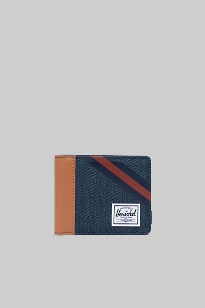 HERSCHEL, Herschel Roy Indigo Denim Stripe, WALLET, Way Side Shop
