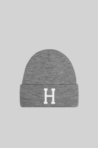 HUF, HUF CLASSIC H BEANIE GREY, CAP, Way Side Shop