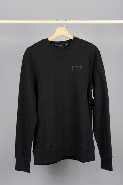 HUF HUF RIOT CLASSIC H CREW BLACK Way Side Shop SWEATSHIRT