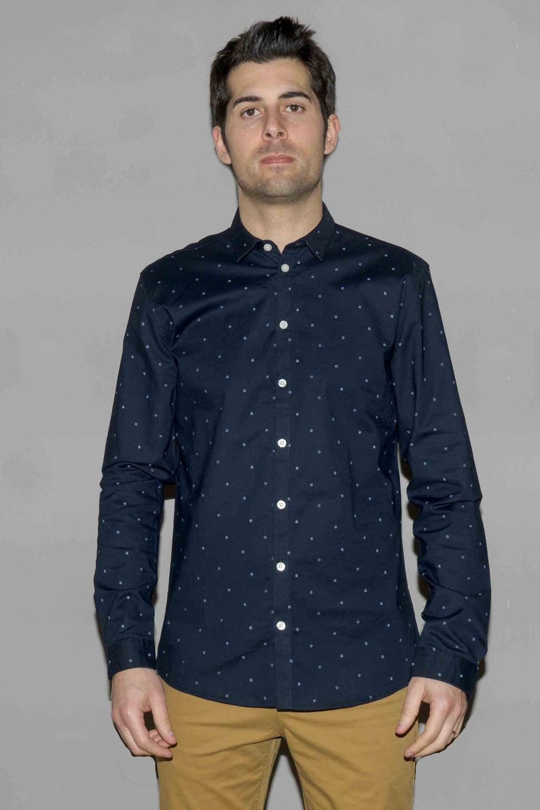 MINIMUM BROOKMAN L/S SHIRT DARK NAVY Way Side Shop SHIRT MAN