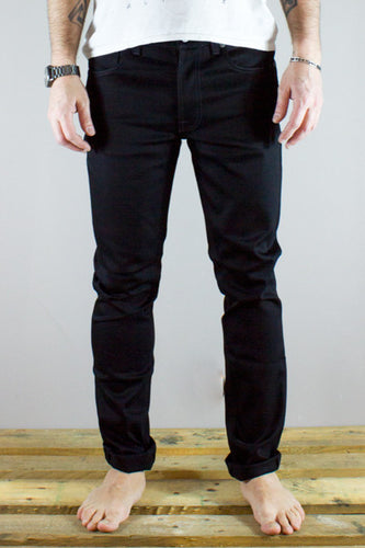 NUDIE LEAN DEAN DRY COLD BLACK Way Side Shop PANTS & JEANS MAN