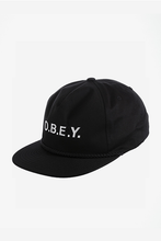 Load image into Gallery viewer, OBEY CONTORTED SNAPBACK BLACK Way Side Shop CAP