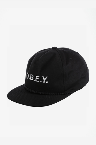 OBEY CONTORTED SNAPBACK BLACK Way Side Shop CAP